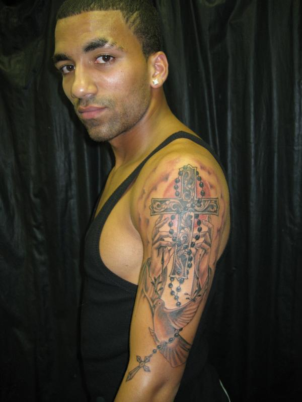 Aaron Lennon tattoo, the English number 25 from Leeds, England
